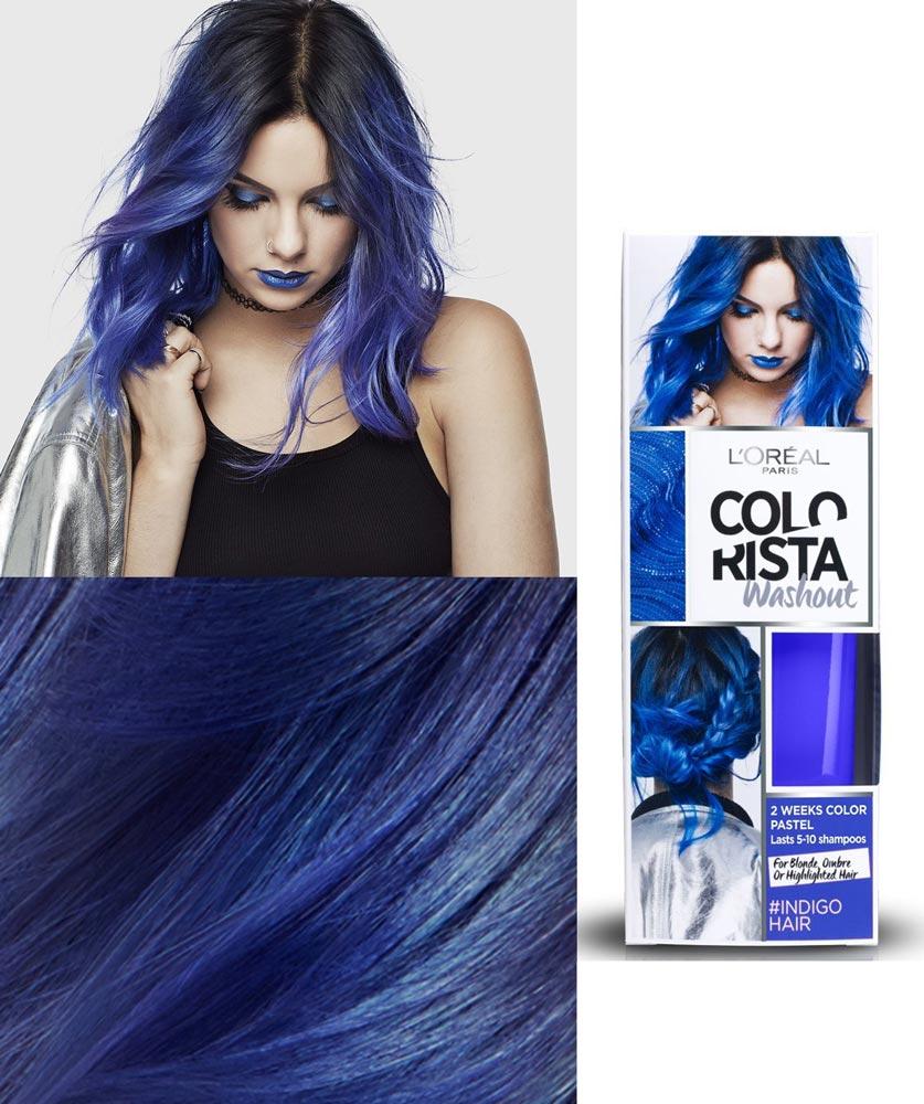 Loral Colorista Indigo Blue Hair Dye Review Kiss Kiss Winks